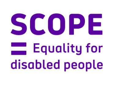Scope - Equality for disabled people logo